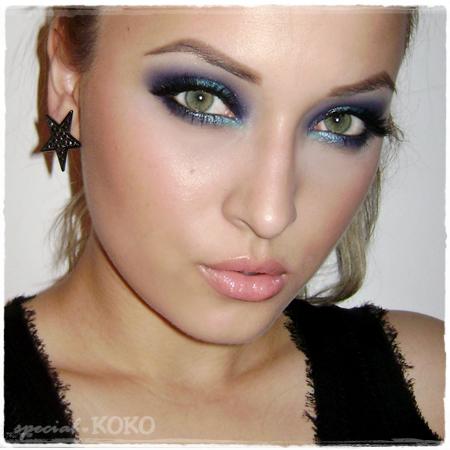 Dramatic Blue Make-up Look using Sleek - Special Koko