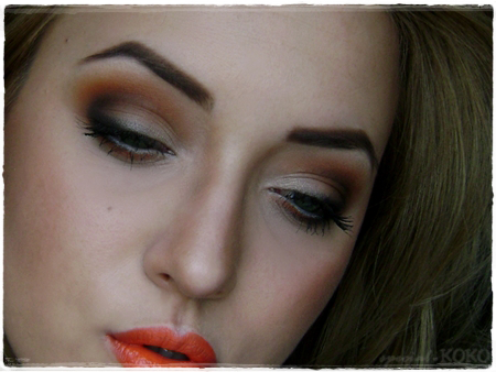 bright orange makeup look ♥  special koko