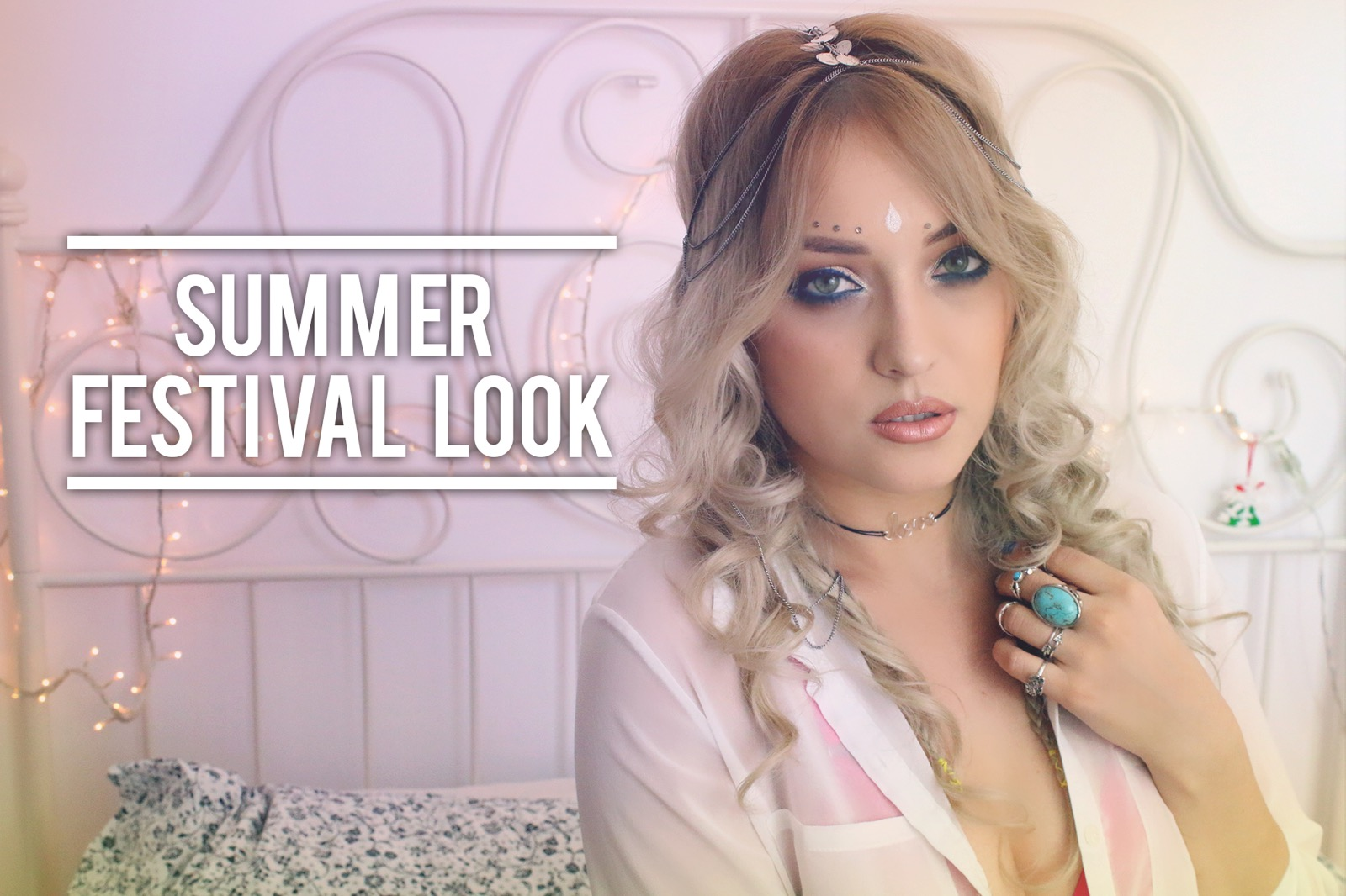 Summer Festival Look - Make-up, Hair & Outfit