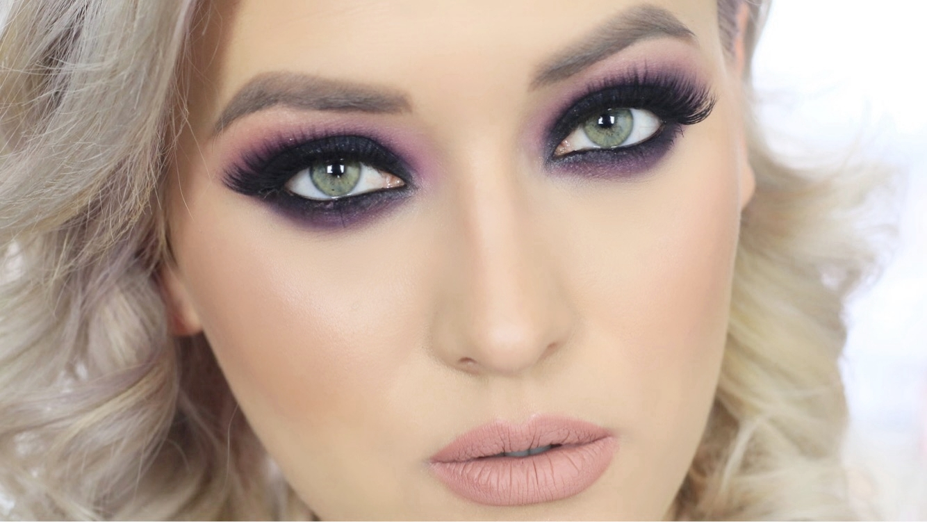Grwm Valentines Day Machiaj Smokey In Nuante De Mov Si Bucle